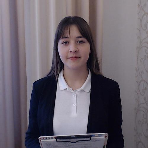 Zdjęcie nagrodzonej uczestniczki Ogólnopolskiego Konkursu Krasomówczego